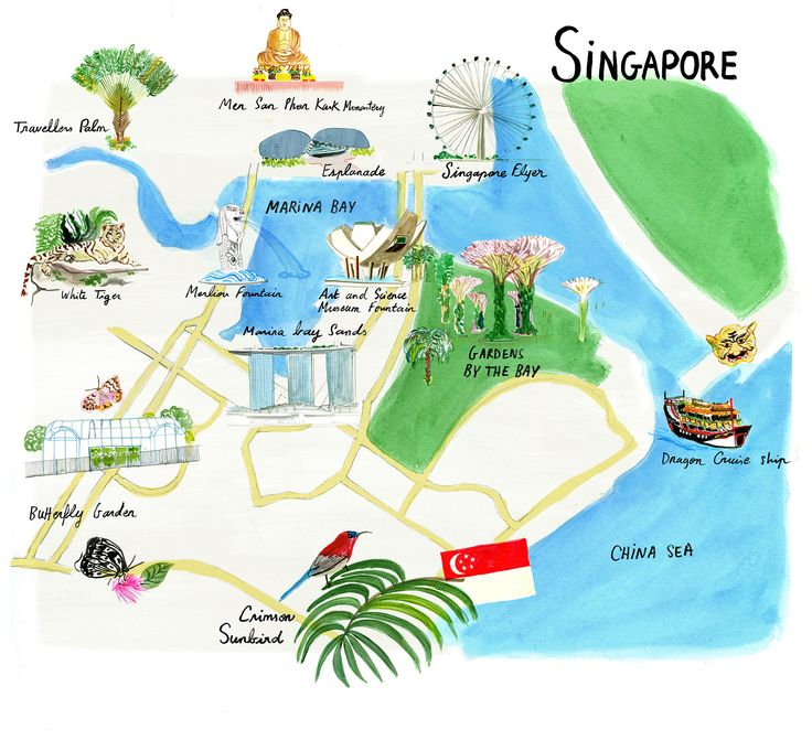 Map of Singapore by Cassandre Montoriol