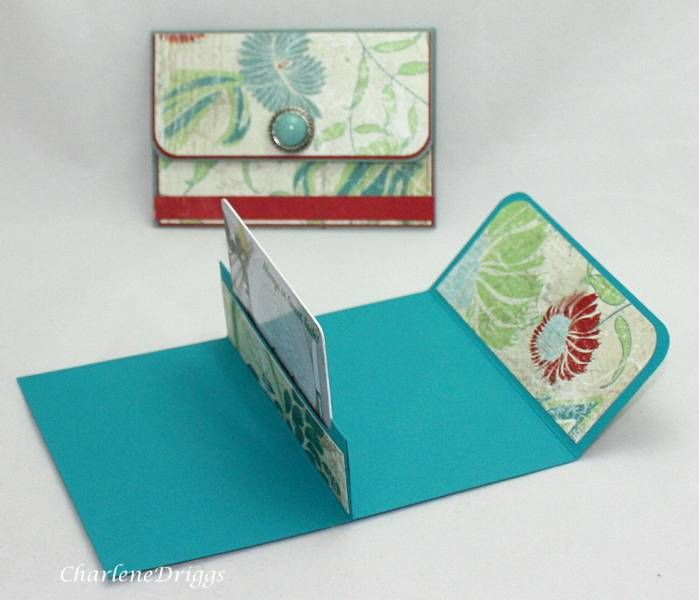 Purse gift card holder: this looks like an easy and fun project.