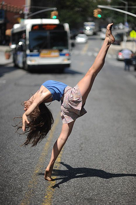 just casually dancing on the street