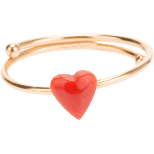 Maman Et Sophie Heart Ring ($99) ❤ liked on Polyvore