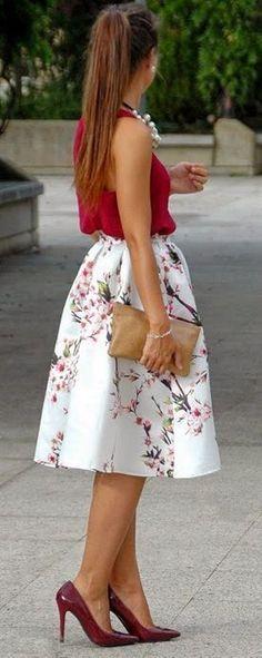Cherry Blossoms spring wedding guest dress / http://www.himisspuff.com/wedding-guest-dress-ideas/8/