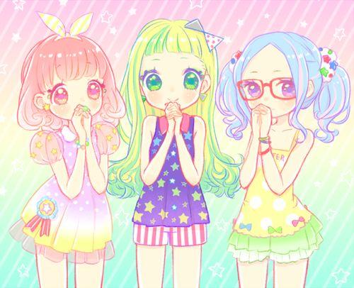 anime cute colorful girl - photo #30