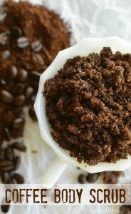 DIY Coffee Body Scrub : Homemade Sugar Scrub : Great for exfoliating & reducing the appearance of cellulite!