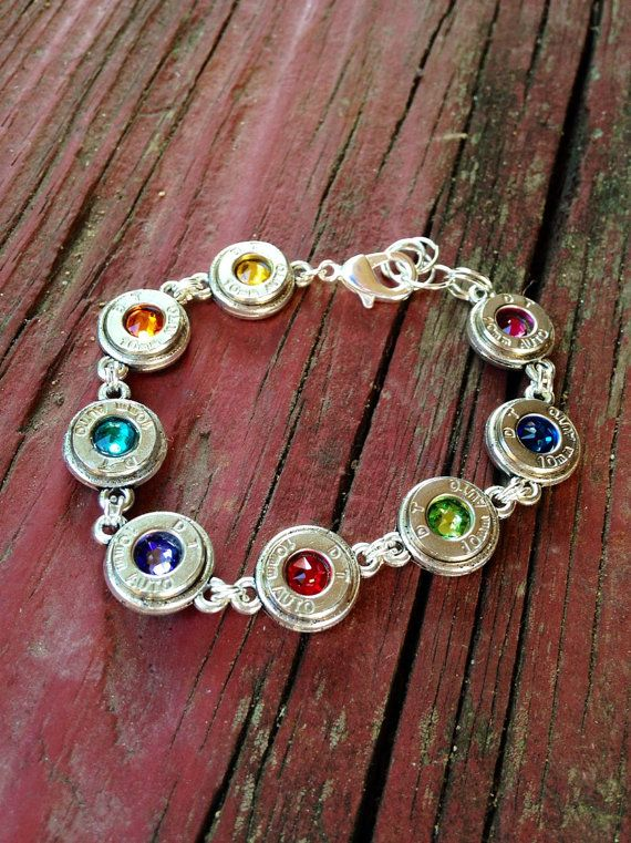 Colorful Bullet Bracelet by MCarrCreations on Etsy