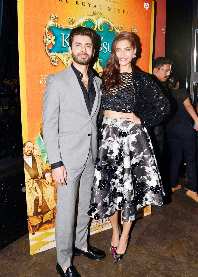 Fawad Khan and Sonam Kapoor at the music launch of 'Khoobsurat'