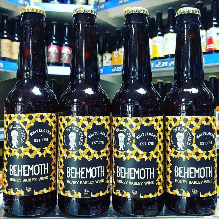 Behemoth - 11% Honey Barley Wine from @wildechildbrewing in collaboration with @gwozle87 for the @whitelocksalehouse American Beer Festival this weekend