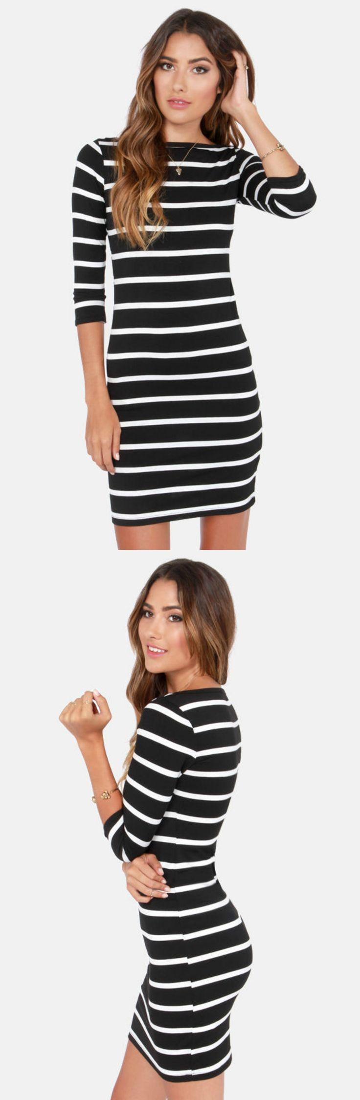 Black   White Stripes via lulus com