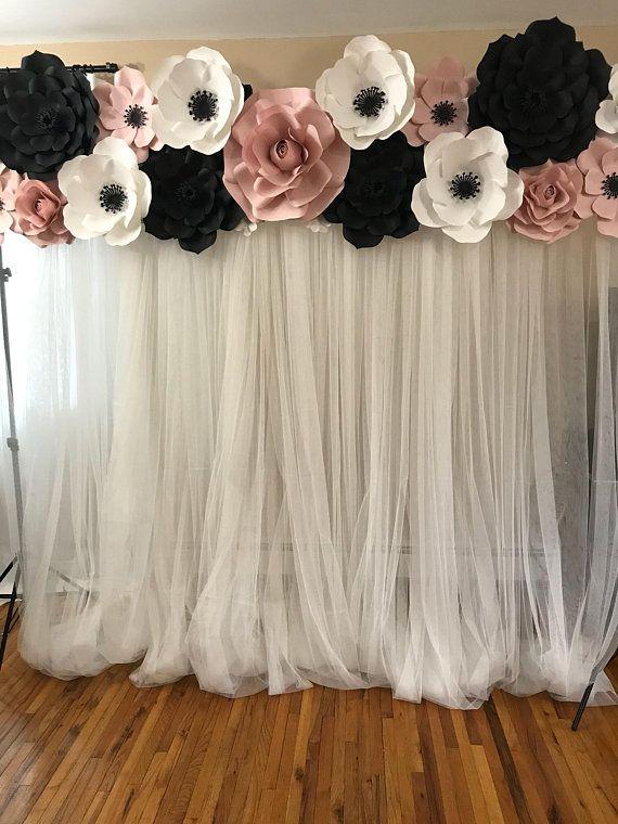 Paper Flower Backdrop Backdrop Rental Long Island Rental Paper Flowers Baby Shower Backdrop Decoracao Festa Decoracao Festa