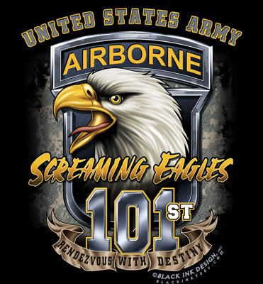 "The elite 101st airborne division of the United States Army. Also known as ""The Screaming Eagles."""