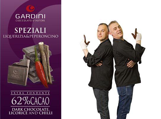 Gardinis mörka krämiga choklad med lakrits och chili är mer än choklad, bered dig på en smakbergochdalbana. #Gardini #choklad #smakerutangränser #nyhet #Beriksson