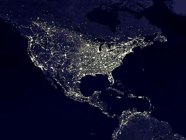 Actual photo of the earth at night by NASA