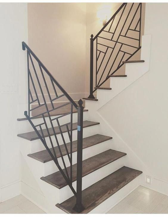 Contemporary Modern Staircase Metal Brass