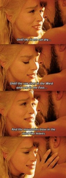 The Khal and his Queen. Uniquely breathtaking romance, they have, don't they? =)