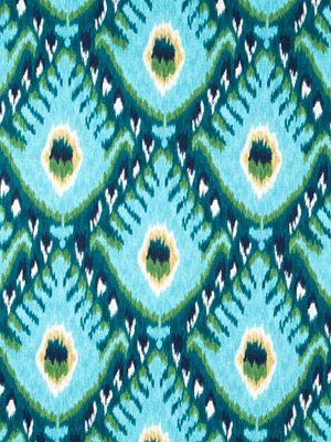 Turquoise Ikat Fabric - Aqua Ikat Upholstery Fabric by the Yard - Ikat Drapery Yardage on Etsy, $43.00