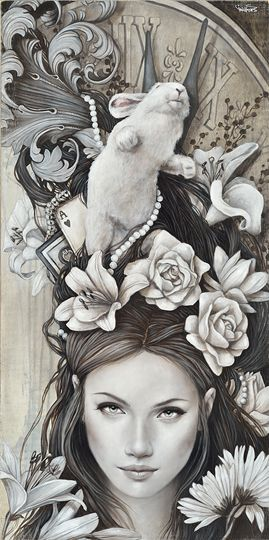 Sophie Wilkins | OIL | Alice in Wonderland | Alice's Dream