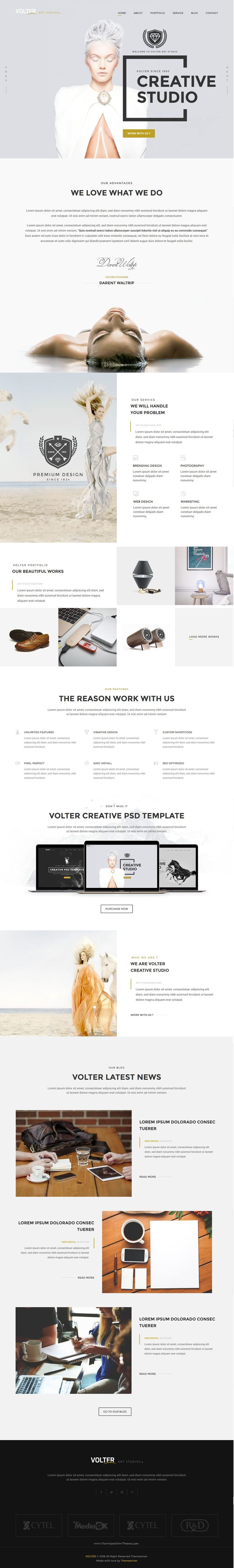 Volter Creative Studios Bootstrap HTML5 Template comes with stunning 4 home variation.