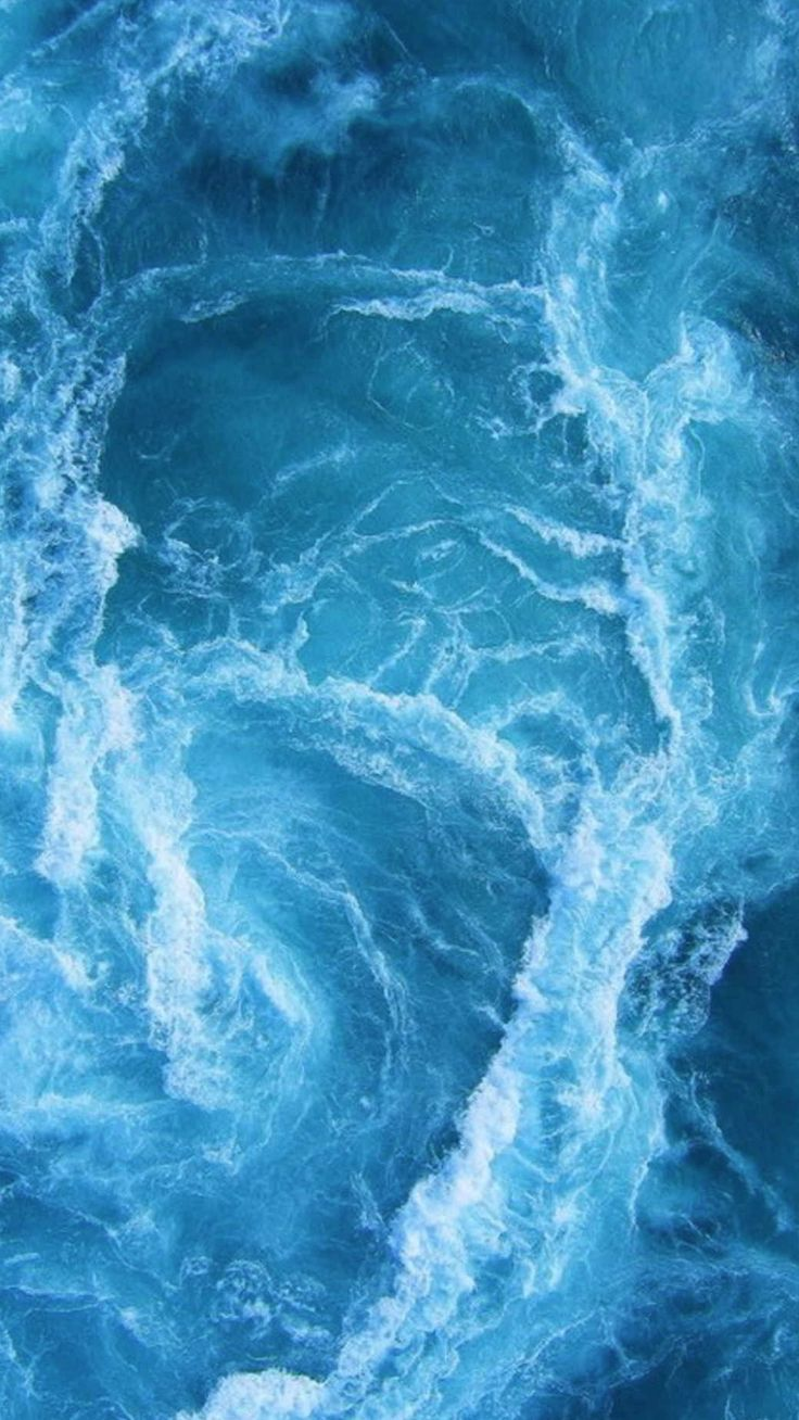 Wallpaper iphone wave - Swirling Blue Ocean Waves Iphone 6 Hd Wallpaper