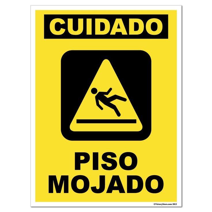 """Piso Mojado Cuidado (Caution """" Wet Floor) Sign or Sticker - #16"""