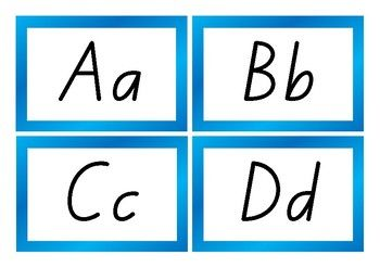 The upper and lower case alphabet in the 'NZ basic script' font.  Use them for a wall display, literacy centre activity, flashcards, etc.I have many handwriting resources made with this font.  Click here to view them.**********************************************************************  Suzanne Welch Teaching ResourcesTpT credits Earn TpT credits by providing feedback on this product after you purchase it.