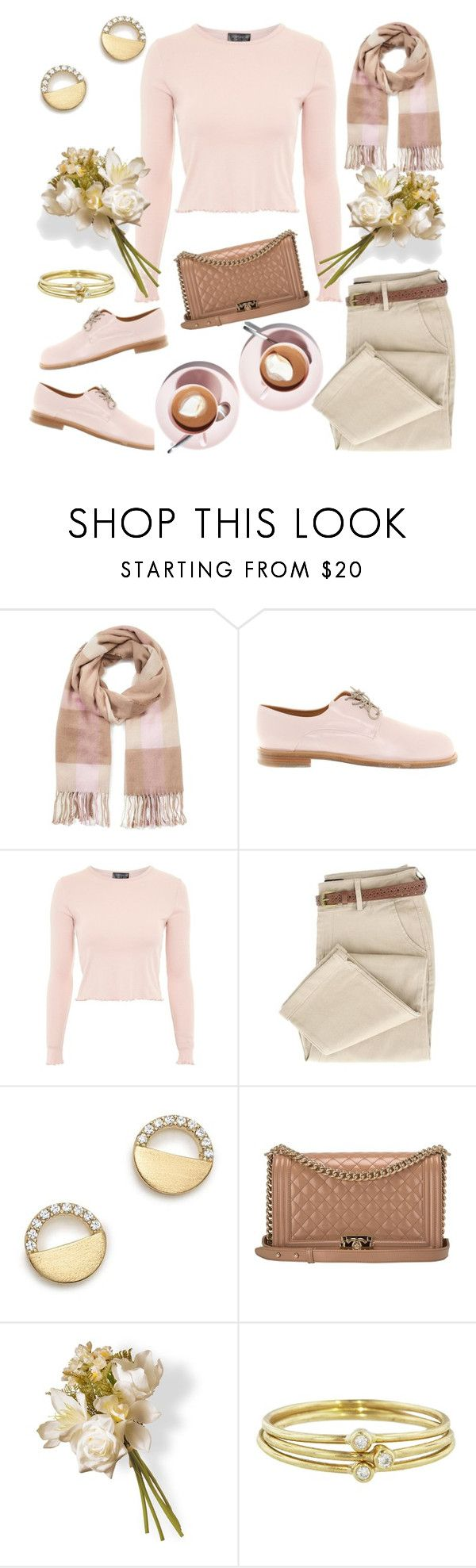 """""""Untitled"""" by valente-i ❤ liked on Polyvore featuring Miss Selfridge, Jil Sander, Topshop, Bloomingdale's, Chanel, National Tree Company, Jennifer Meyer Jewelry and winterscarf"""