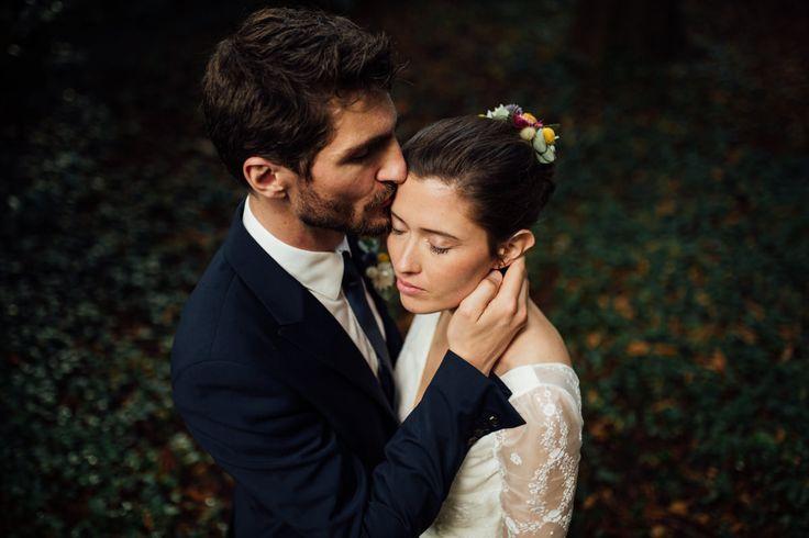 Bride and groom- Chateau de santeny wedding day