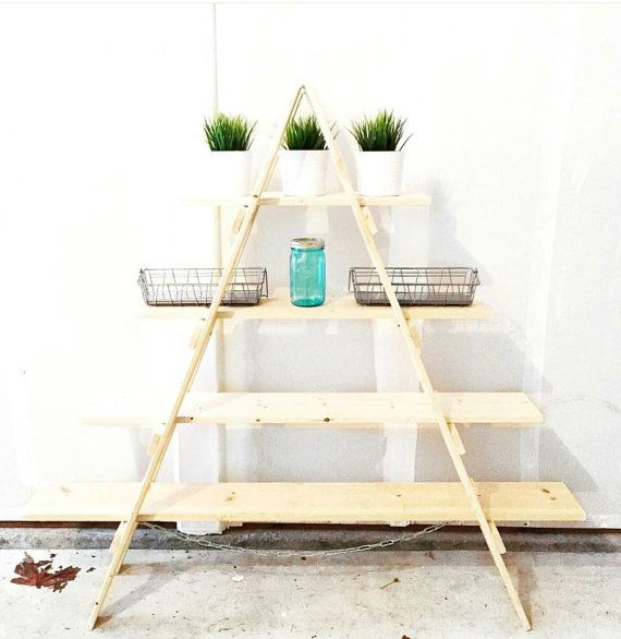 A Frame Ladder Shelf Wooden Craft Fair By Sipanddazzle