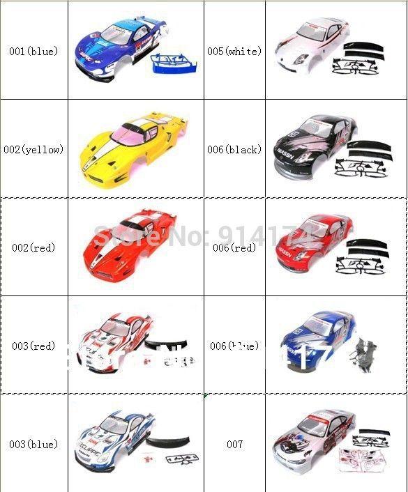 1/10 rc car body shell  for 1:10 R/C racing car 190mm  henglong  2pcs/lot   free shipping