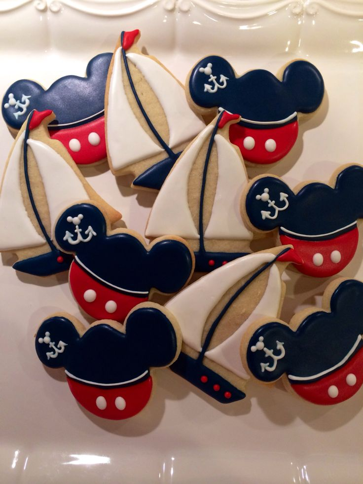 Nautical Mickey Mouse Cookies