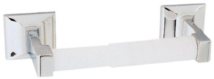 UNIQUE Toilet Paper Holder, Polished Chrome Zinc/Aluminum With Plastic Bar NEW #DesignHouse
