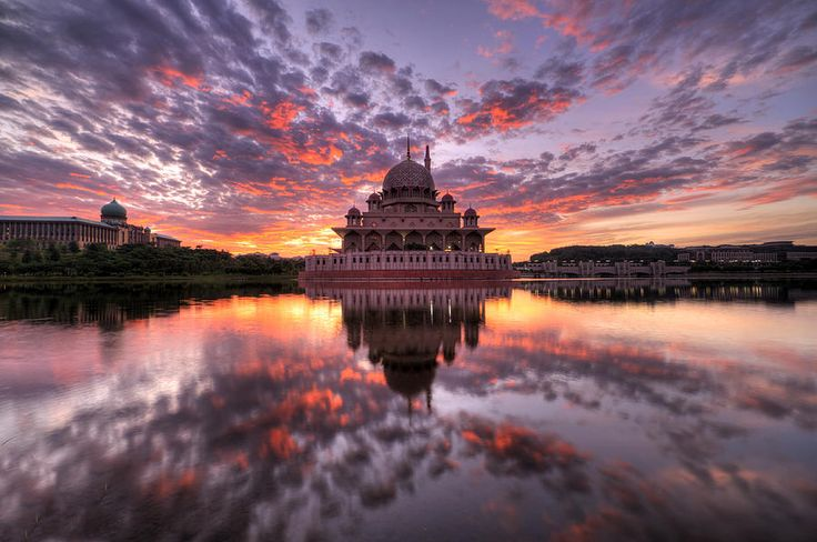 Reflection Of Mosque In Malaysia Photograph  - Reflection Of Mosque In Malaysia Fine Art Print