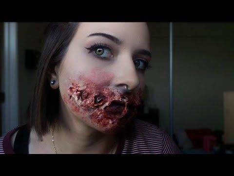 creepy sfx smile | using liquid latex - YouTube