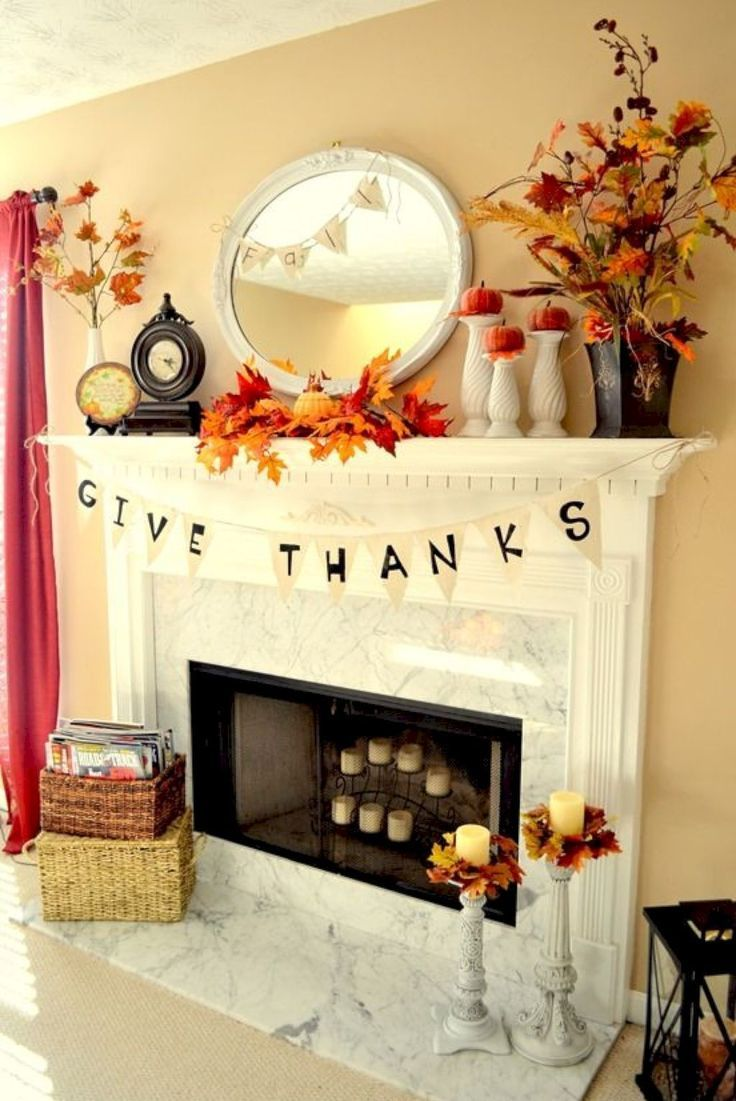 Thanksgiving Decorations Fireplace And Mantle Decorations Thanksgiving Decorations Diy Fall Thanksgiving Decor Fall Fireplace Decor