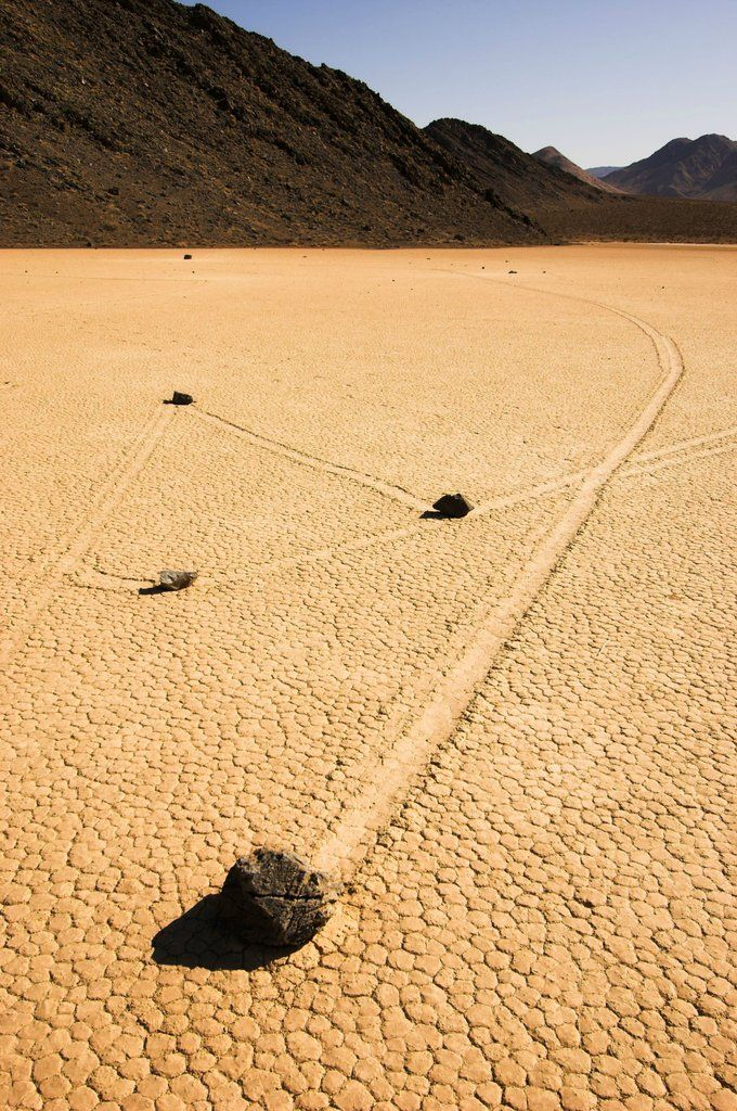 It's so hot even the rocks are moving in Death Valley