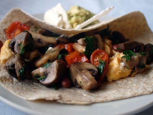 Mushroom Breakfast Burrito | Mother's Day Inspired Recipe