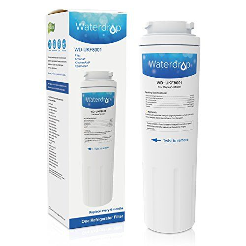 Waterdrop Refrigerator Water Filter Replacement for Maytag UKF8001, UKF8001AXX, UKF8001P, EDR4RXD1, Whirlpool 4396395, Puriclean II, Kenmore 9006, 46-9006, Everydrop filter 4, Viking RWFFR, 1 Pack
