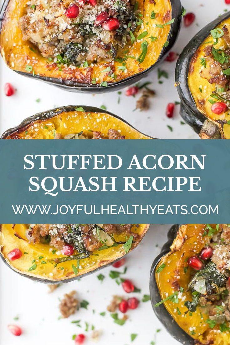 The Best Apple Sausage Stuffed Acorn Squash Recipe Food