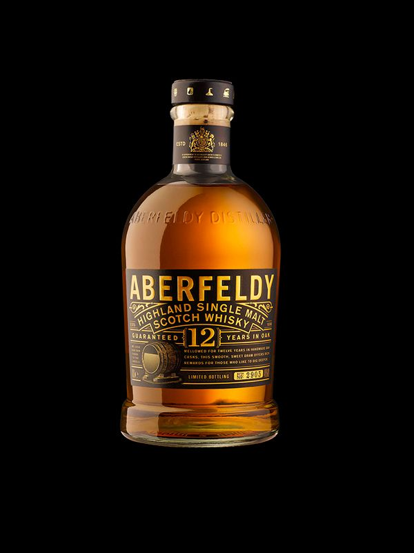 Aberfeldy Single Malt Scotch Whisky on Packaging Design Served