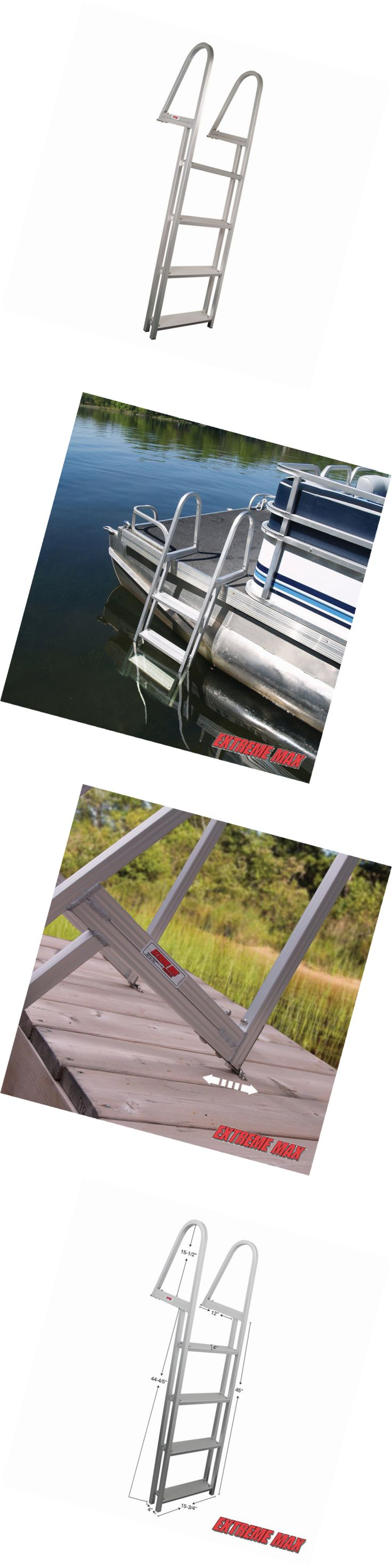 Other Water Sports 159151: Extreme Max 3005.3380 4-Step Pontoon Dock Ladder -> BUY IT NOW ONLY: $123.38 on eBay!