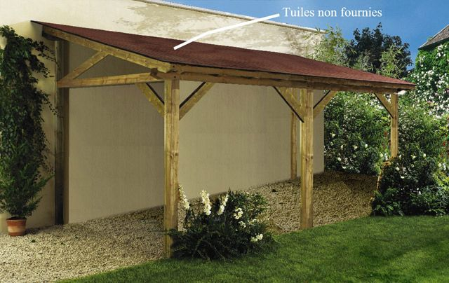 carport bois 1 pan 5 60 x 2 78 m castorama appentit pinterest carport bois castorama et. Black Bedroom Furniture Sets. Home Design Ideas