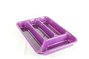 Purple Plastic 4 Compartment Cutlery Drawer Tray Holder Fork Spoon Box Caddy: Amazon.co.uk: Kitchen & Home