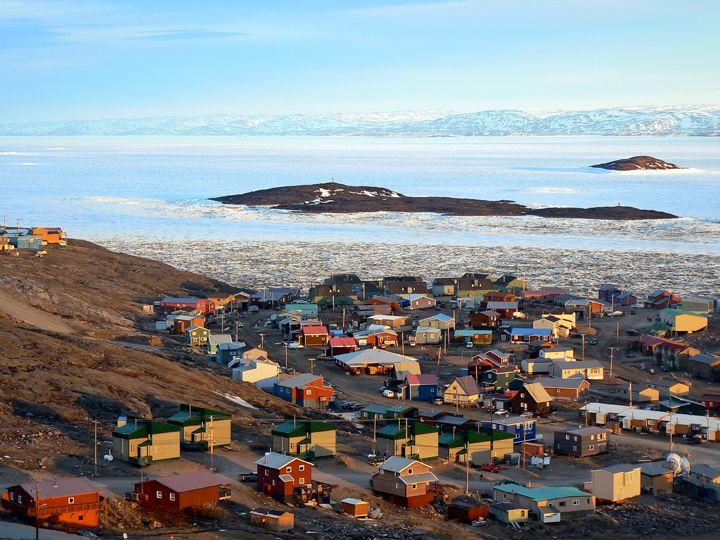 IQALUIT -------------------------------- Nunavut's capital....I WILL visit someday.