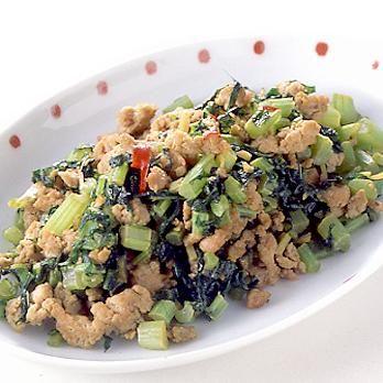 大根の葉とひき肉の豆板醤炒め | 葛西麗子さんの炒めものの料理レシピ | プロの簡単料理レシピはレタスクラブニュース
