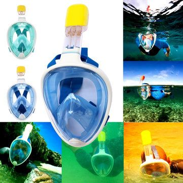 Silicone Full-Dry Diving Face Mask Snorkeling Goggles Glasses Lens Snorkel Gear Under Water Sale - Banggood.com