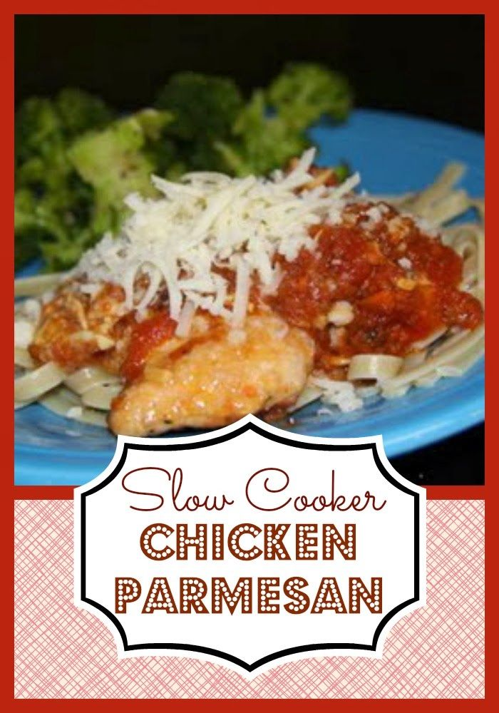 slow cooker chicken parmesan  #slowcooke, #crockpot, #chicken