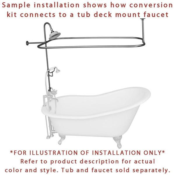 Oil Rubbed Bronze Clawfoot Tub Shower Conversion Kit With