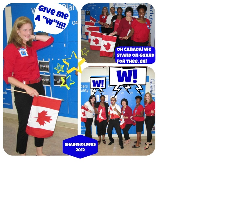Getting into the Walmart Canada spirit!