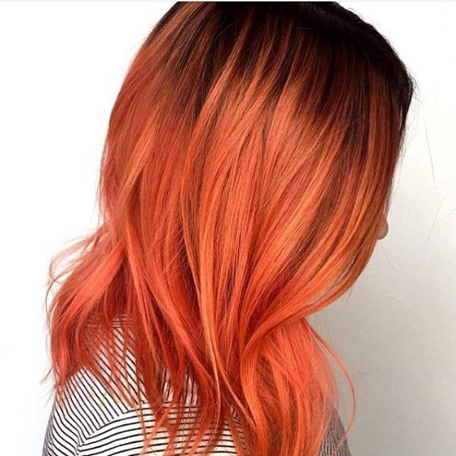 Coral hair is the epitome of summer. ❤️✂️❤️ #matrixhair #matrixcolor || : @_avesalon