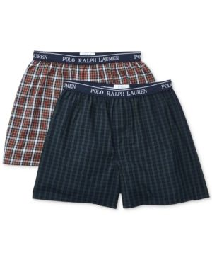 Polo Ralph Lauren Boys\u0027 or Little Boys\u0027 2-Pack Printed Boxers - Clive Plaid  and Burton Plaid XL