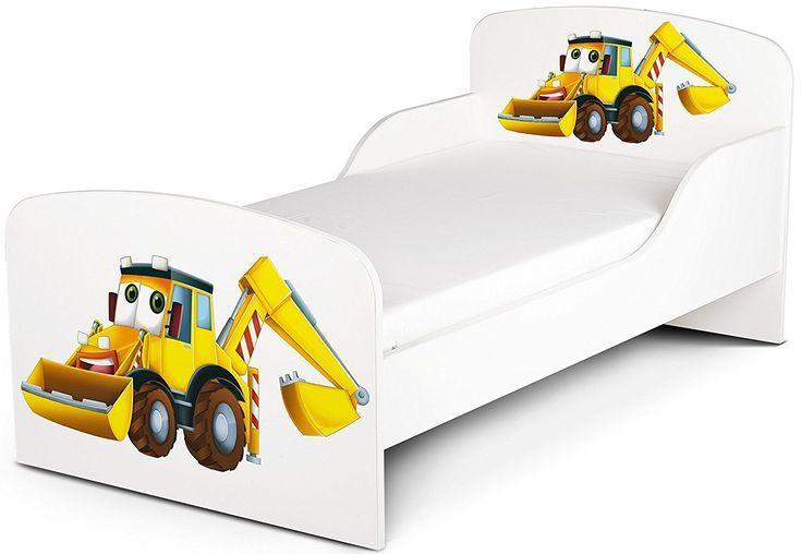 White Gree Yellow Kleinkinderbett mit Gratis-Matratze 140x70 holz