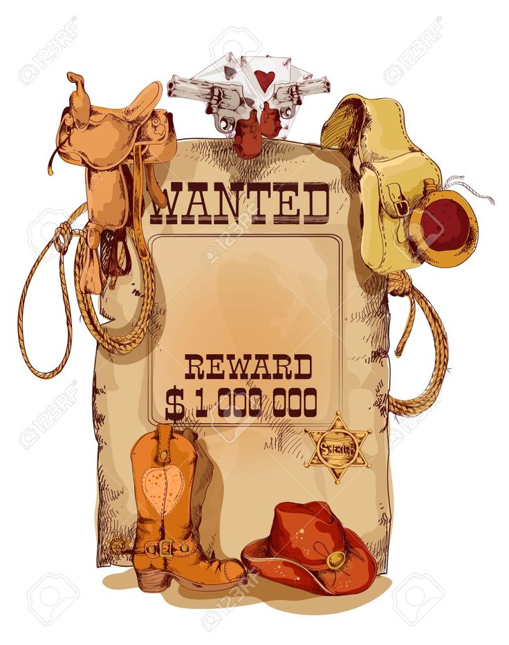 69 best Cowboy images on Pinterest Cowboys, Illustrators and - create a wanted poster free